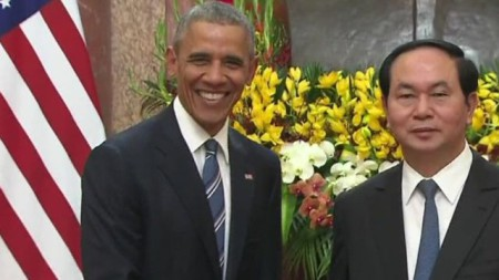 TT Obama ở Hà Nội. Ảnh BBC