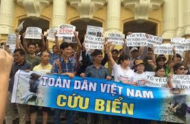 HN biểu tình vì môi trường hôm 1/5/2016