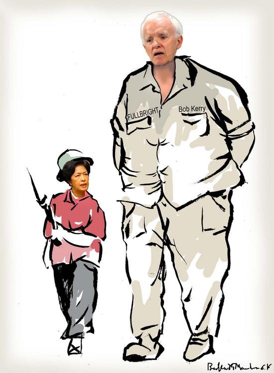Fullbright Bob Kerry và Tôn nữ thị Nịnh