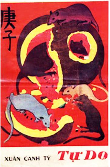 Bìa báo Xuân Tự Do Canh Tý 1960 của Nguyễn Gia Trí