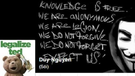 Facebook của Nguyễn Hữu Quốc Duy trước khi bị đóng