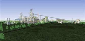 Hình 3: Thiết kế 3D của lò cao tại nhà máy thép FHS