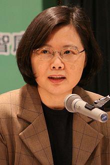 Thái Anh Văn, Tổng Thống Đương Nhiệm của T.H.D.Q. Ảnh: Wikipedia