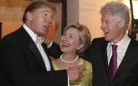 Donald Trump và vợ chồng Clinton