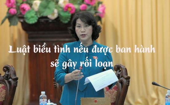 Image result for Thím Ngân: Luật biểu tình nếu được ban hành sẽ gây rối loạn
