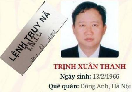 Trịnh Xuân Thanh hiện đang bị truy nã