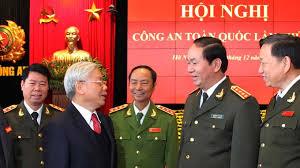 TBT Nguyễn Phú Trọng đến Hội nghị ngành công an. Ảnh Vietstock.
