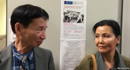 Cựu Trung tá Bùi Quyền và diễn viên điện ảnh Kiều Chinh (ảnh Bùi Văn Phú)