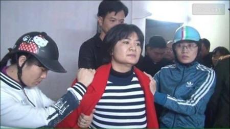 Chị Trần Thị Nga, người mới bị bắt trước Tết