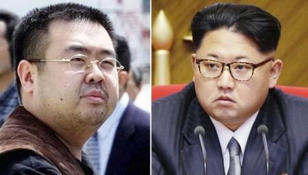 Kim Chính Nam (trái) Kim Chính Ân (phải)