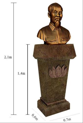 Bức tượng Hồ Chí Minh cao hơn 2 mét (kể cả bục) dự định được đặt trong công viên Donau tại thủ đô Viên của nước Áo